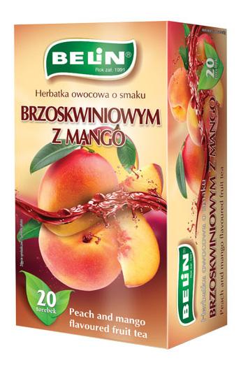 Herbatka owocowa o smaku brzoskwini z mango