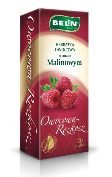 Herbatka owocowa o smaku malinowym