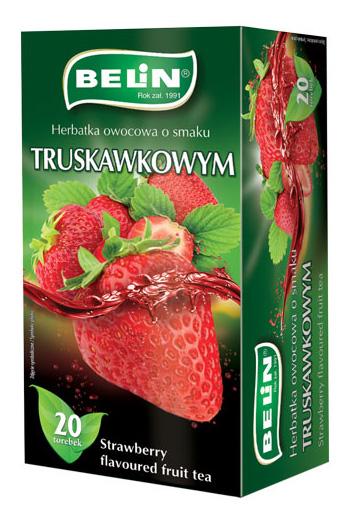 Herbatka owocowa o smaku truskawkowym