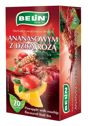 Herbatka owocowa o smaku dzikiej róży z ananasem
