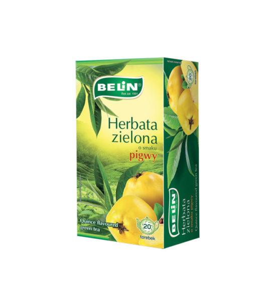 Herbata zielona o smaku pigwy