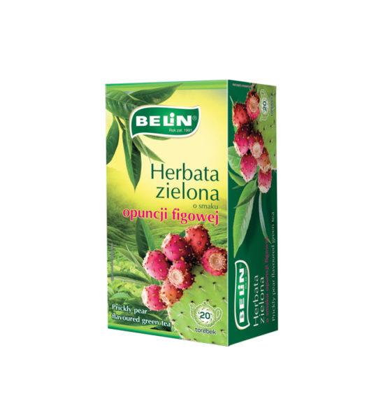 Herbata zielona o smaku opuncji figowej
