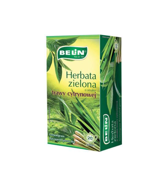 Herbata zielona o smaku trawy cytrynowej
