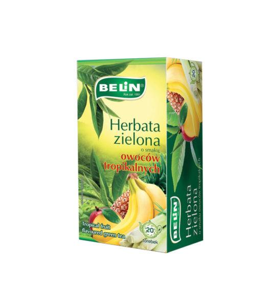 Herbata zielona o smaku owoców tropikalnych